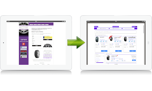 Add tyre e-commerce to your own website