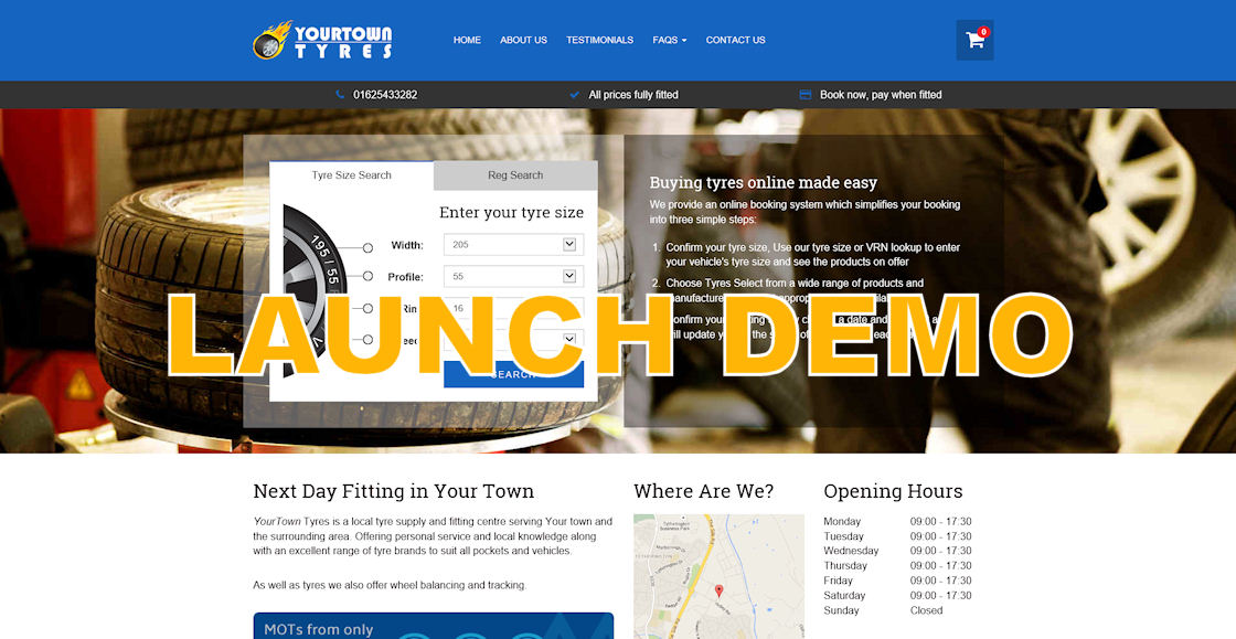 Click to launch demonstration website